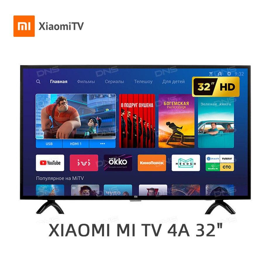 Xiaomi tv smart tv 4A 32 дюйма 1G + 4G поддержка хранения miracast Netflix DVB-T/T2 + C светодиодный телевизор intellgent