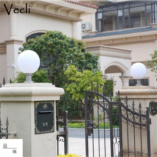 Boule forme extérieure chapiter lumière jardin clôture parc pilier éclairage résidentiel paysage colonne lampes