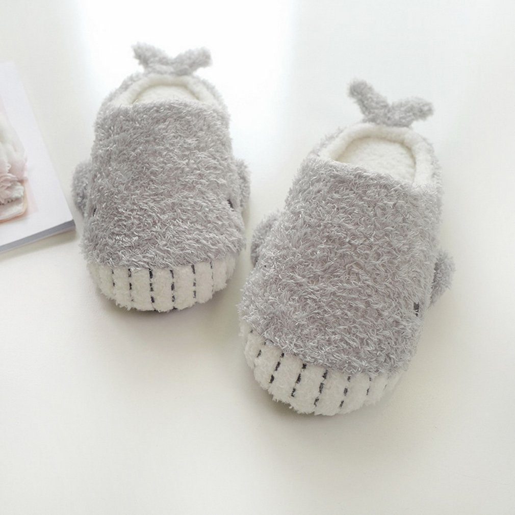 Whale Soft Bottom Slip Indoor Cotton Slippers