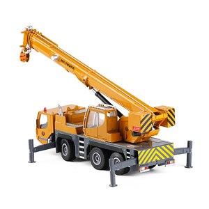 Image 4 - Modelo de aleación de grúa de alta calidad 1:50 rueda pesada, coche de juguete de ingeniería deslizante de metal de simulación, regalo educativo, envío Gratis