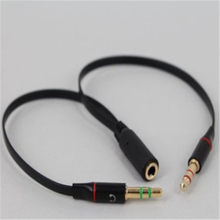 Headphone Earphone Audio Cable Microphone Y Splitter Adapter 1 Female to 2 male Connected Cord to Laptop PC New Arrive(China)