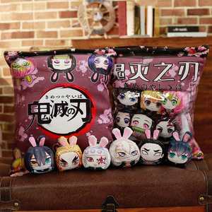 Image 4 - 1Pc Anime The Founder Of Diabolism, Demon Slayer Plush Pillow Cute Doll Soft Toy Pillow Cushion Gift Anime Around