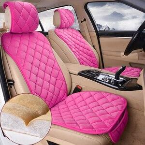 Image 5 - 자동차 좌석 커버 보호자 세트 유니버설 자동 전면 후면 의자 쿠션 패드 따뜻한 플러시 자동차 좌석 커버 매트 자동차 액세서리