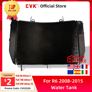 CVK Motorcycle Radiator Cooler Cooling Water Tank for Yamaha YZFR6 R6 2008 2009 2010 2011 2012 2013 2014 2015 YZF600 YZF YZF-R6 for yamaha yzf r6 2008 2009 2010 11 12 13 14 complete all silver abs fairings 3mm thick injection plastic kits
