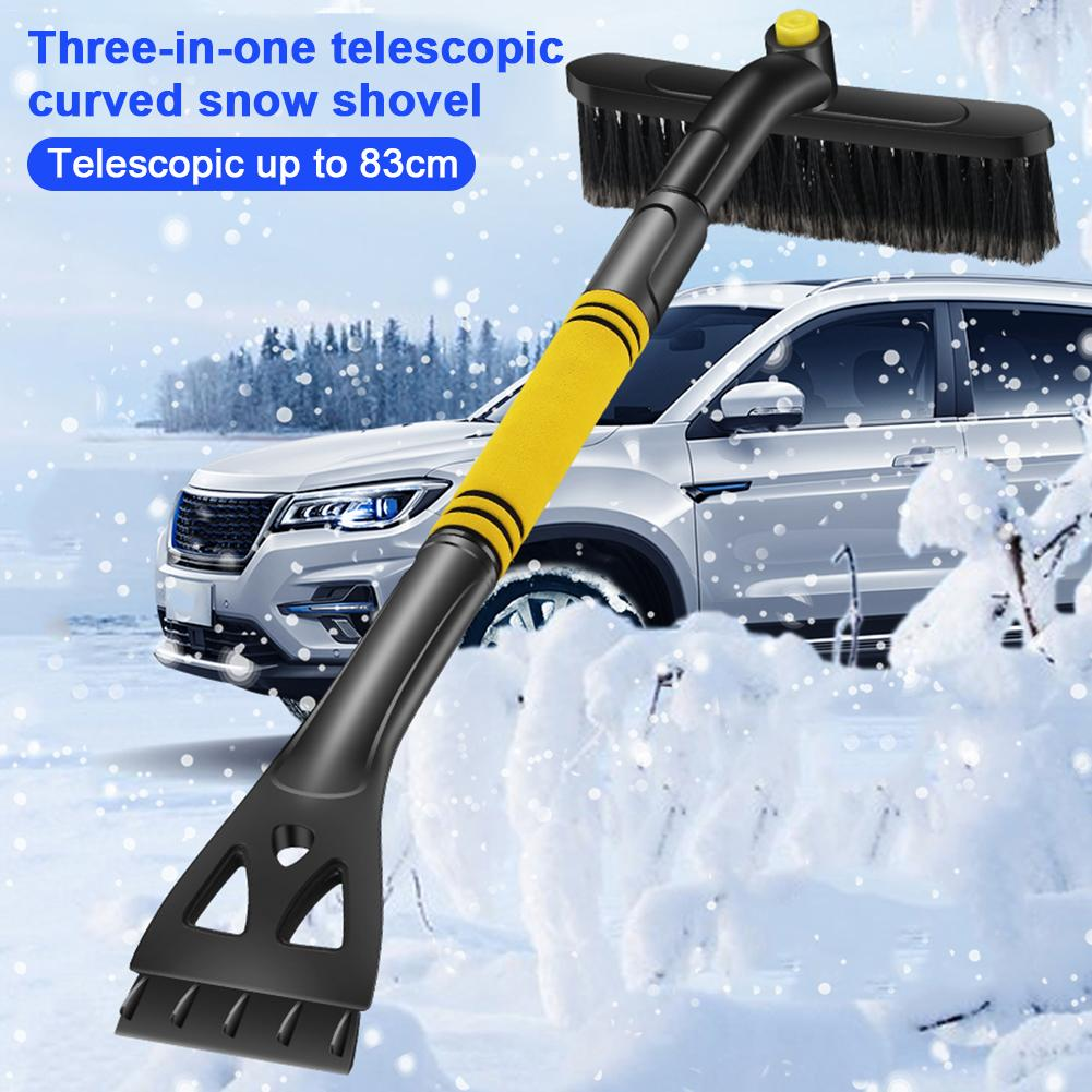 1PC New Car Snow Removal Shovel Retractable Snow Brush Scraping Snow Shovel Glass Frost Winter Ice Scraper Removal Tool