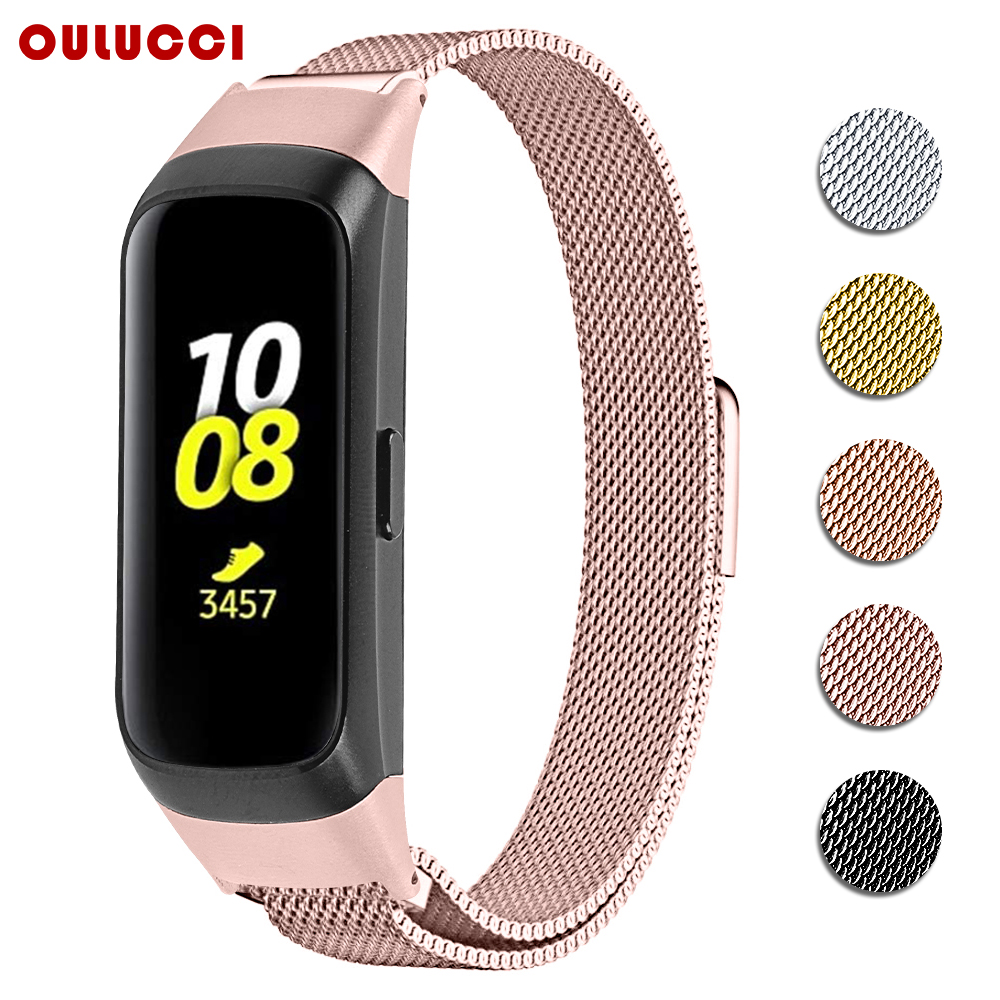 OULUCCI mesh loop band  for Samsung galaxy SM R370 watch band Metal Bracelet strap for samsung galaxy watch strap-in Smart Accessories from Consumer Electronics