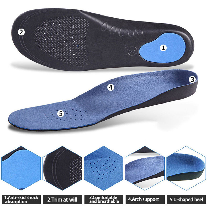 Orthotic Insoles Arch Support For Feet Height 3cm High Quality 3D Comfortable Plush Cloth Flat Feet Orthopedic Insoles Foot Pad
