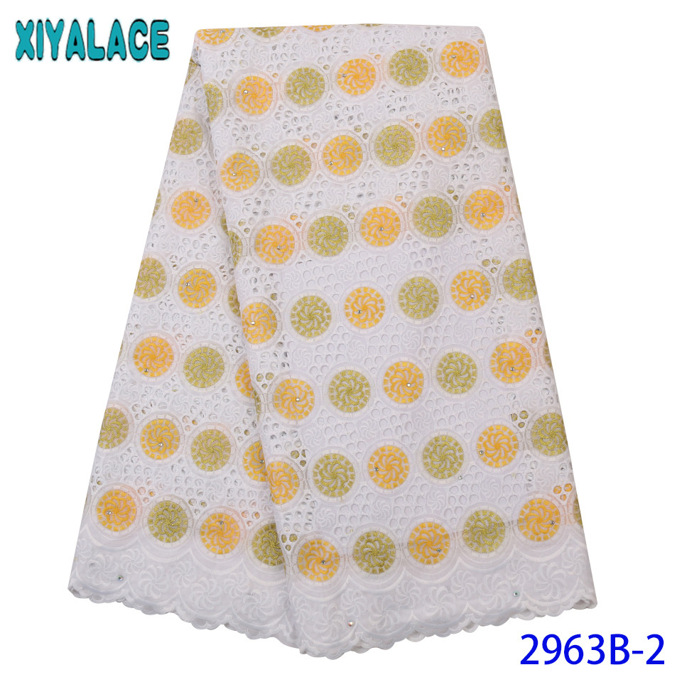 Latest Lace Fabric ,2019 Tissue Lace Fabric,Dry Cotton Laces With Stones For Women Dresses KS2963B-2