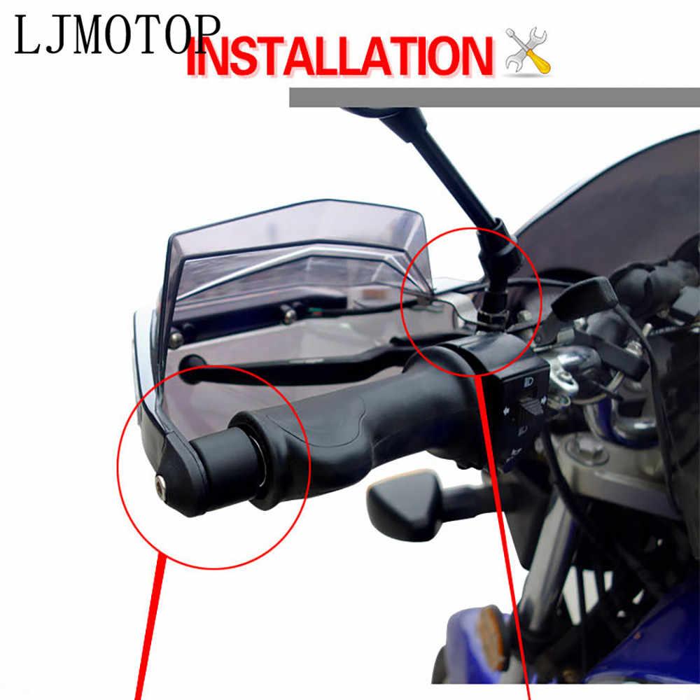 オートバイハンドガードハンドルプロテクターチェーングローブ led 信号ライト GSXR600 GSXR750 GSXR1000 SV650 CBR600 刀