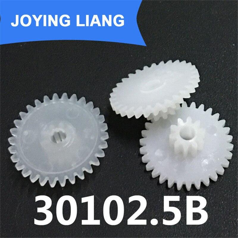 30102.5B 0.5M Plastic POM Gear Diameter 16mm 30 Teeth 10 Teeth Double Layer Gear 2.5mm Hole DIY Toy Parts Accessories