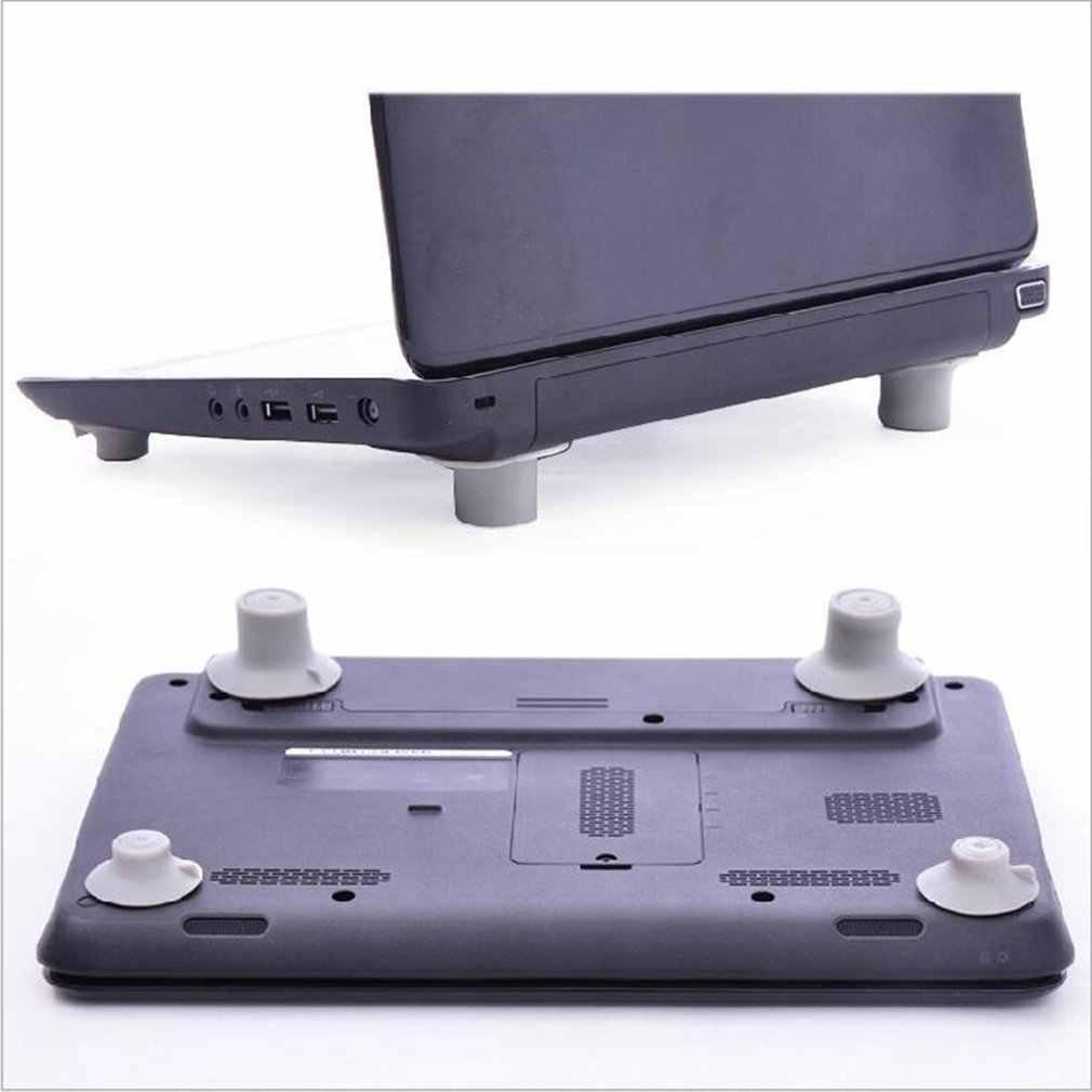 4Pcs Antiderrapante Bola de Resfriamento Laptop Pés Frios Notebook Antiderrapante Perna Pad Estande