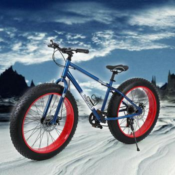 bike fixed gear bike snowmobile 4 0 widened large tire variable speed fat tire car shock absorption mountain road bike bicycles 26-inch Wheel Mountain Bike 7 Speed Gears Snow Bike 26 * 4.0 Fat Tire Cruiser Bicycle Road Bike racing bicycles