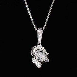 Image 2 - TOPGRILLZ collier et pendentif Nipsey, R.I.P Nipsey, avec chaîne de Tennis glacée, en Zircon cubique brillant, bijoux Hip Hop pour hommes