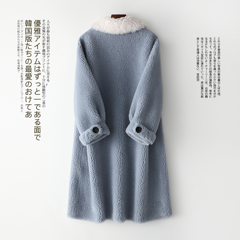 AYUSNUE 2020 New Women's Fur Coat Long Winter Jacket Women Sheep Shearing Korean Wool Fur Coats Chaqueta Mujer Y007 KJ3052