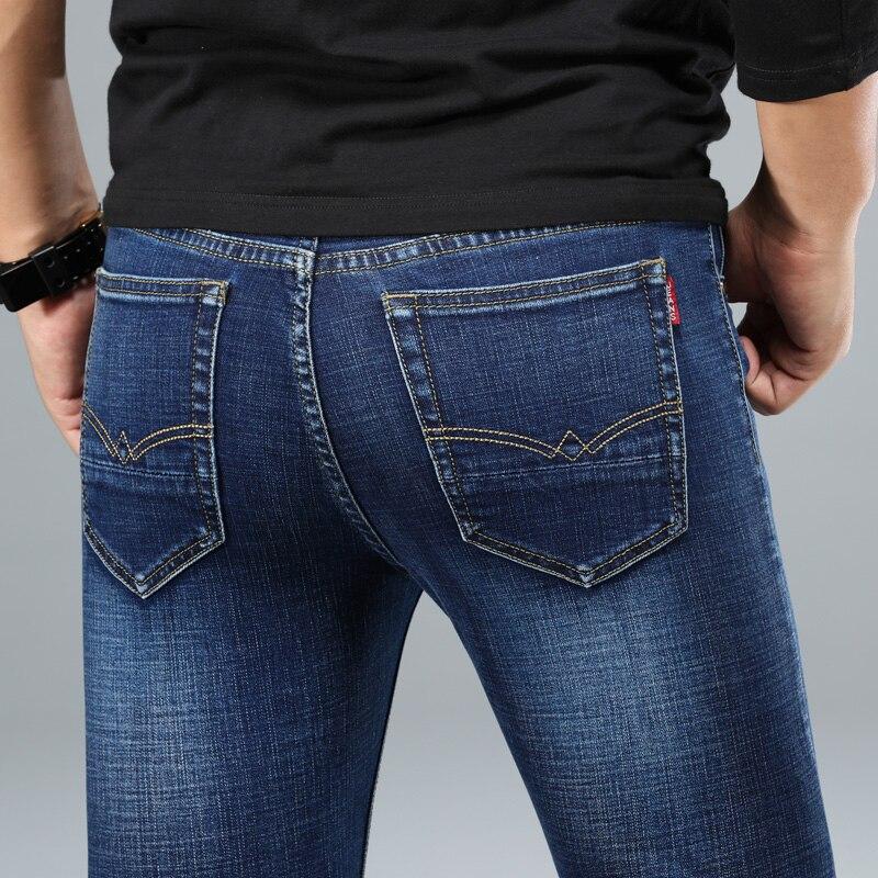 H6a267f7192f64815bc03737c30db2536E - 2020 New Design Jeans Mens Pants Cotton Deniem Classic Trousers Casual Stretch Slim High Quality Black Blue Multiple Styles