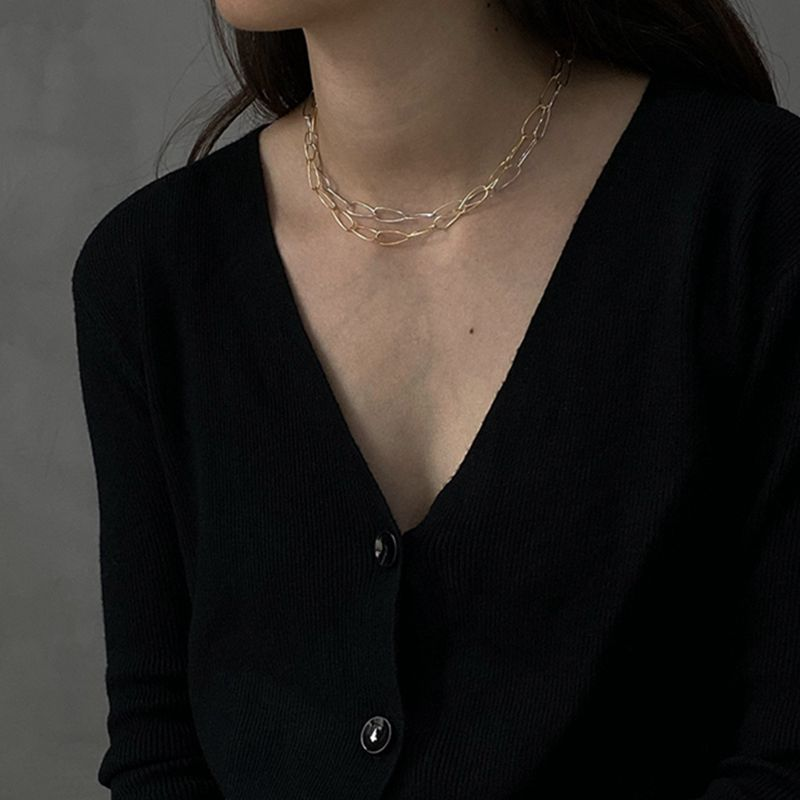 Silvology 925 Sterling Silver Wide Chain Choker Necklace Simple Elegant Short Chain Necklace For Women 925 Minimalist Jewelry