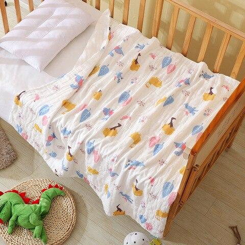 Muslin Swaddle Baby Blankets 100% Cotton Swaddle Wrap for Newborn Babies 6 Layer Bath Towel Blanket Baby Bedding blanket 110*110 Multan