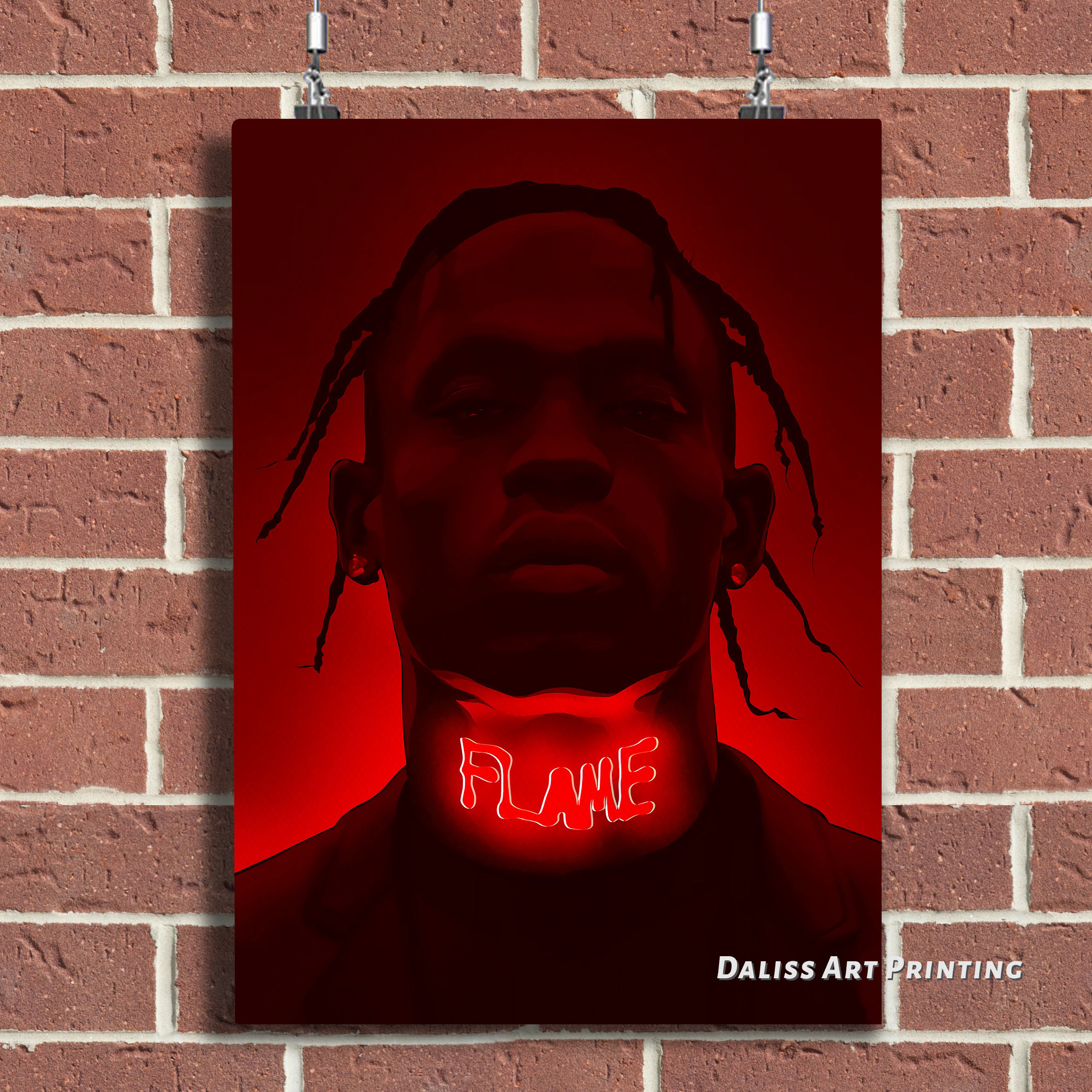 Canvas Travis Scott Pictures Home Decoration Paintings Poster HD Prints Wall Art Modular Living Room Framed