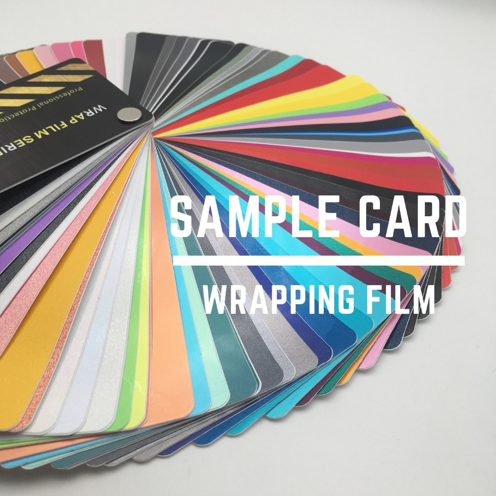 Highest Quality Auto Vinyl Wrapping Film Car Vinyl Wraps Sample Card Color Swatch Latest Style 3-5days Delivered