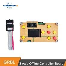 Daedalus grbl 3 eixos offline placa controlador cnc placa de tela para pro 1610/2418/3018 máquina gravador