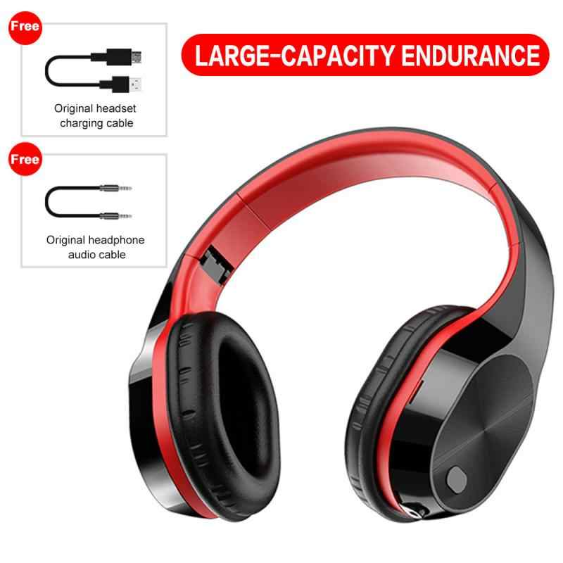 New Wireless Headphones Bluetooth Headset Foldable Stereo Headphone Gaming Earphones With Microphone For Pc Mobile Phone Mp3 Aliexpress