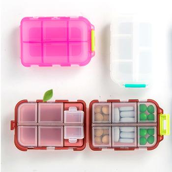 12 siatki pojemnik na leki przenośny pudełeczko na lekarstwa pigułki dozownik Pillbox tabletka na leki Case pojemnik lek dzielnik lek pudełko tanie i dobre opinie MOKARLE pill box Pill storage box about 10*7*3 cm Coffee pink blue gray white 12 Grids container for tablets pill box Portable