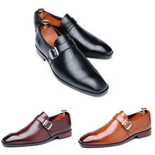 Men Dress Shoes Business Office Buckle Loafers Oxfords Shoes Mens Party Leather Shoes