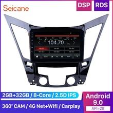 Seicane araba multimedya oynatıcı radyo 2011 2012 2013 2014 2015 HYUNDAI Sonata i40 i45 2din Android 9.0 9 inç GPS kafa ünitesi