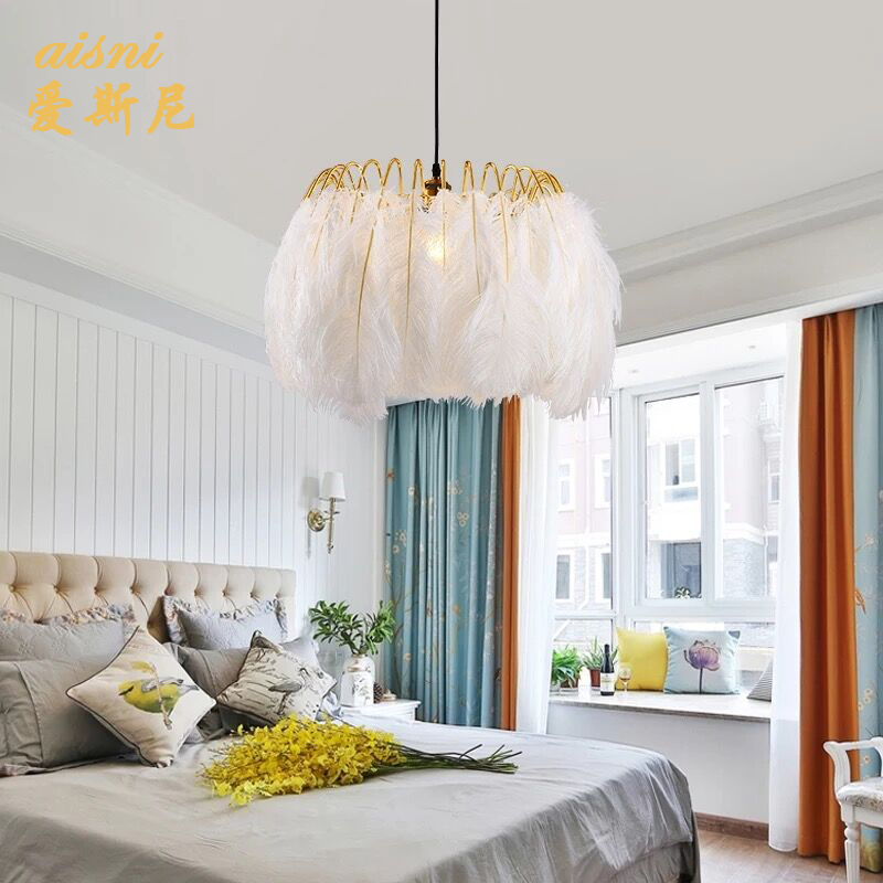 Deco Chambre Glass Ball  LED  Pendant Lights Hanging Lamp