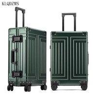 KLQDZMS 20''24''26''29 Zoll Alle Aluminium Legierung Mode Reise Trolley Gepäck Tasche Abnehmbare Futter Erweiterte Business Koffer