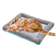 Cat Beds Sleeping Bed Summer Pet Mat Ice Silk Cold Felt Litter Dog Puppy Kennel Products Kitten