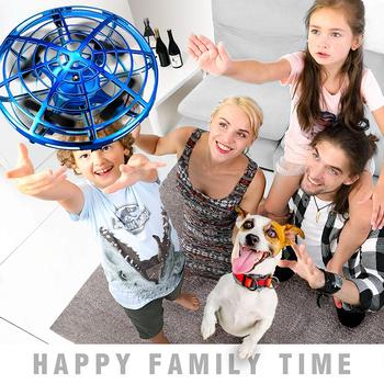 UFO Toy Mini Drone ręczne drony dla dzieci indukcja samolot helikopter RC latające zabawki do gry w piłkę dla chłopców dziewcząt Dropship tanie i dobre opinie Global Funhood Metal RUBBER Z tworzywa sztucznego As show 11*11*8 5cm Far away from fire Mode1 Mode2 Silnik szczotki 3 7V 300mAh