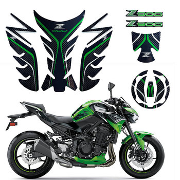for Kawasaki Z900 ABS Streetcar Motorcycle Decal Jelly Gel Genuine Carbon Fiber Sticker Tank Pad