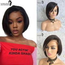 Pixie Cut Lace Front Human Hair Wigs For Women Remy Brazilian Short Bob Wig 13×4 Vinuss