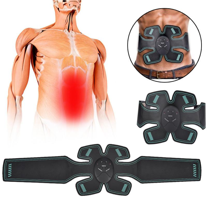 EMS Intelligent Waist And Abdominal Muscle Fitness Instrument Waist Abdominal Electro Muscle Stimulation Body Slimming Massager