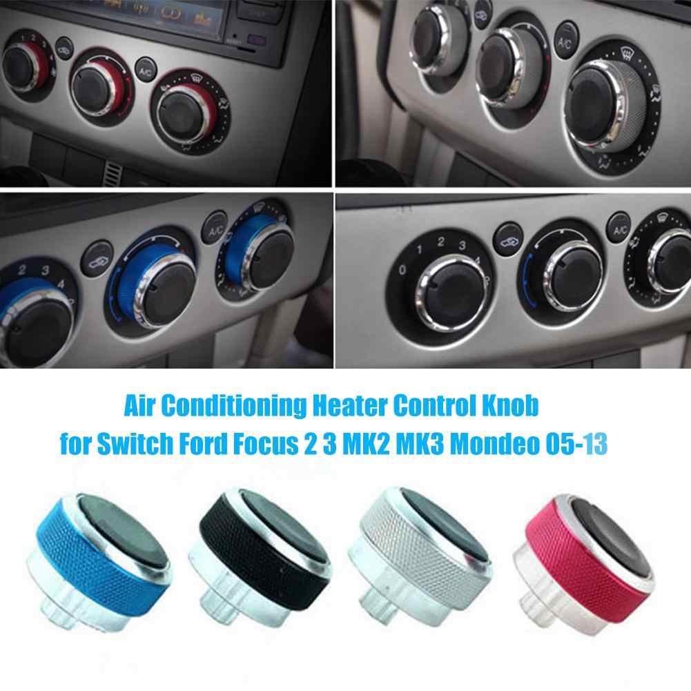3PCS pour Ford Focus 2005-2012 en Alliage d/'Aluminium Voiture Climatisation AC Switch Knob