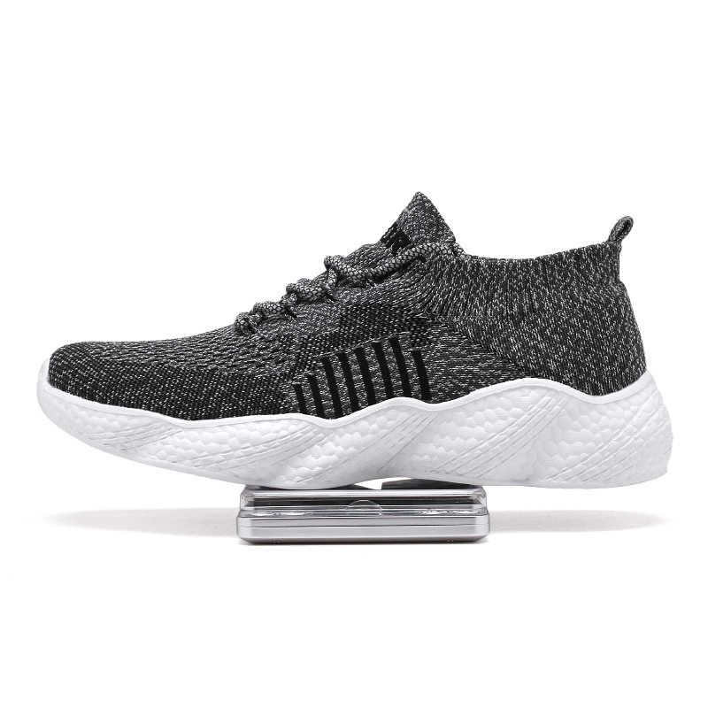 Damyuan koşu ayakkabıları fiş boyutu 46 rahat nefes erkek spor ayakkabı vulkanize ayakkabı 2020 moda olmayan deri erkek spor ayakkabılar