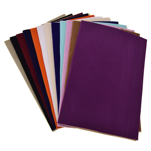 A4 Soft Surface Self-Adhesive Velvet Fabric DIY Patchwork Quilting Shoes Gloves Clothing Decoration Accessory
