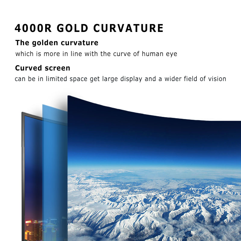 free shipping -curved smart led television 4k Ultra HD android tv 50 inch curved led tv screen with bluetooth