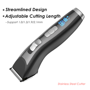 Image 3 - Professional Rechargeable Electric Hair Clipper Stainless Steel Blade Hair Trimmer for Men Kids LED Display Hair Cutting Machine