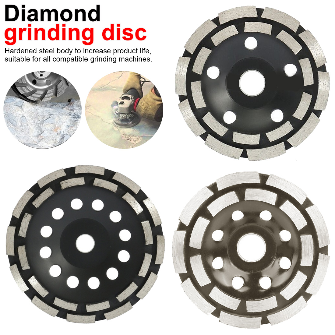 Saw Blade 115/125/180mm Diamond Grinding Disc Abrasives Concrete Tools Grinder Wheel Metalworking Cutting Grinding Wheels Cup