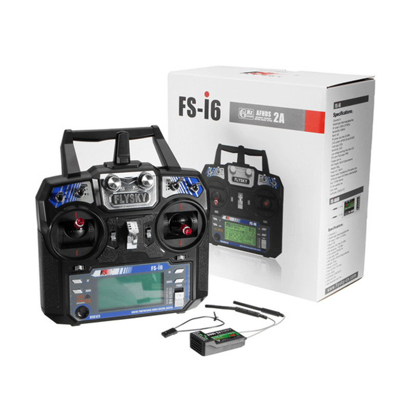 Flysky FS-i6 FS I6 2.4G 6CH AFHDS RC Transmitter Controller With FS-iA6 FS-iA6B Receiver For RC Helicopter Airplane Quadcopter