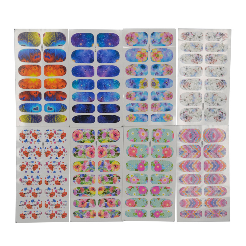 Nail Sticker Stick Completely Waterproof Long-lasting 3D Nail Sticker 14 Stickers Accessories Hipster YSD061-080