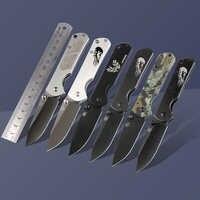 Sanrenmu 7010 kieszonkowy EDC składany nóż survivalowy z zaczepem na pasek do podróży camping i piesze wycieczki