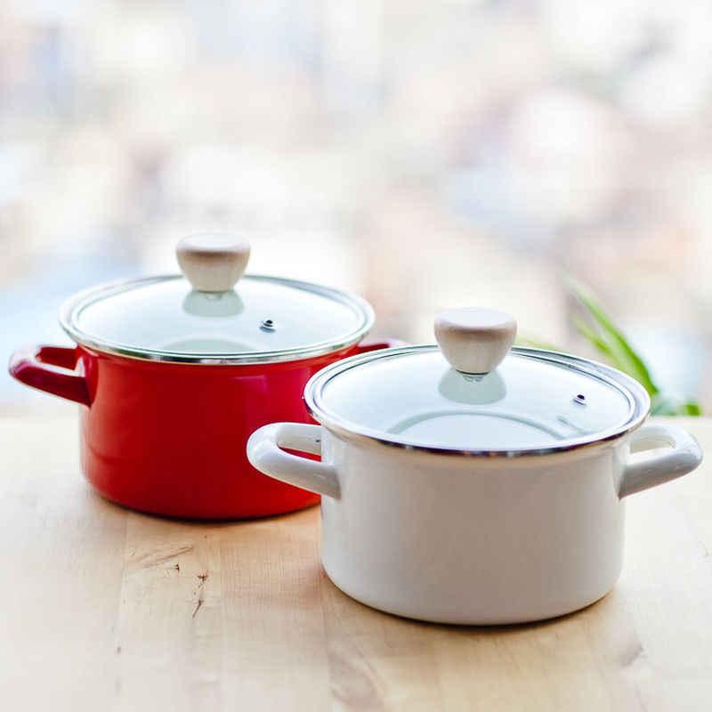 Keuken Pot Instant Pot Verdikte 24Cm Emaille Soeppan 2L3L4L Steelpan Pan Hot Pot Koekenpan Pot Pannenset Keuken pot Kookgerei