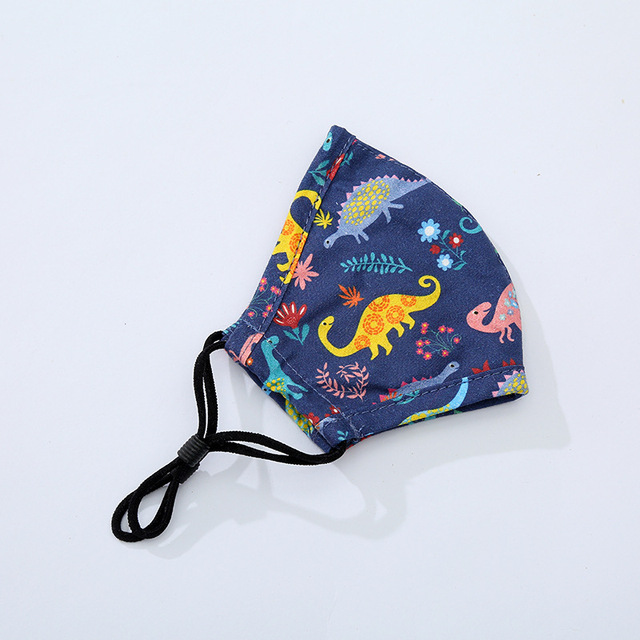 Spot 1 Face Mask 1 Filter Fashion Printed Children's Mask Dust and Haze Proof Cloth Mask Hanging Ear Washable 3