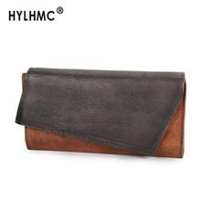2020 New Retro Casual Clutch Bag Women's Wallet Genuine Leat