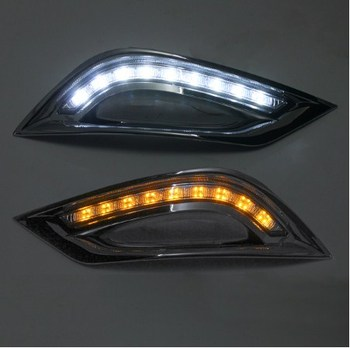 for Hyundai Sonata G8(8th) LED DRL LED Daytime Running Light with 9 LED chips Excellent CAR-Specific for free shipping