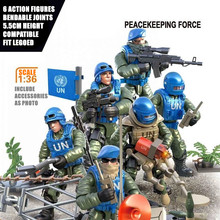 SWAT Small Building Bricks Military Figures Plastic Compatible Blocks Action Figures for Kid Toys Bendable Joints