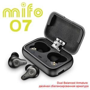 Mifo O7 двойные сбалансированные настоящие беспроводные наушники шумоподавление V5.0 TWS Bluetooth наушники Aptx спортивные водонепроницаемые мини на...